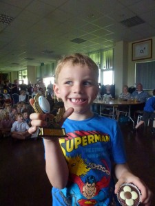 Alfie with his Individual Trophy
