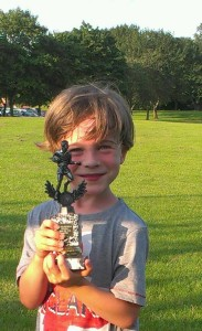 Luke with Player of the Week Trophy