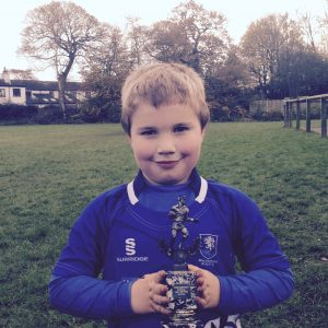 Fantastic effort from Mathew earnt him the Player of the Week Trophy