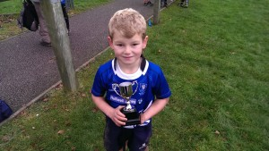 Jack with the New Player of the Week Trophy