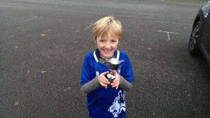 Action of the week Winner Sam with New Trophy