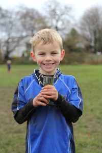 Alfie with Performance of the Week Trophy