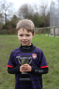 Ben with Player of the Week Trophy