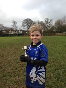Theo with Performance of the Week Trophy