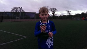 Jack with Player of the Week Trophy