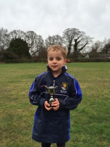 Harry with Performance of the Week trophy