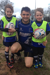 U6s Theo Collins on the Mascots - U7s Eddie Lee and Theo Collins from the U6s
