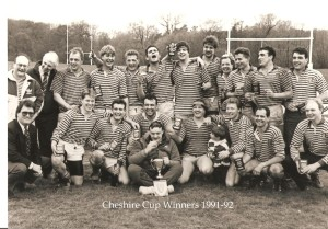 32 Cheshire Cup Winners 1991-92