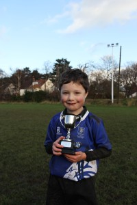 William with his Player of the Week Trophy