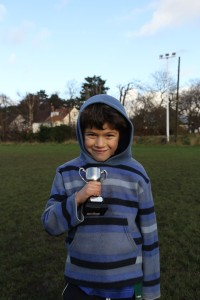 Dylan with Performance of the Week Trophy