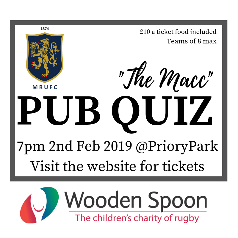 The Macc PUB QUIZ Night Tickets