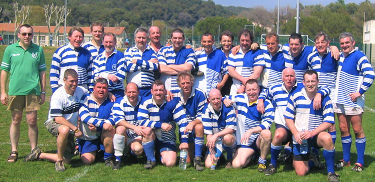 Macclesfield Vets XV in Antibes, South of France