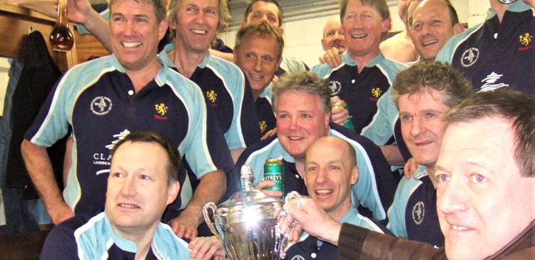 Victorious Vets with the Clapham's Cup