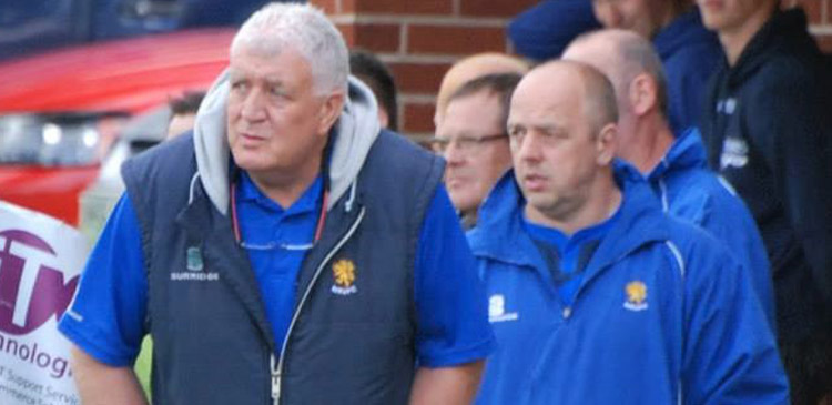 Iain Taylor with Geoff Whappett, waiting to come on against DMP