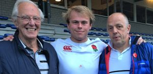 John, Christian and Iain, after Christian's match against the Netherlands for England Students
