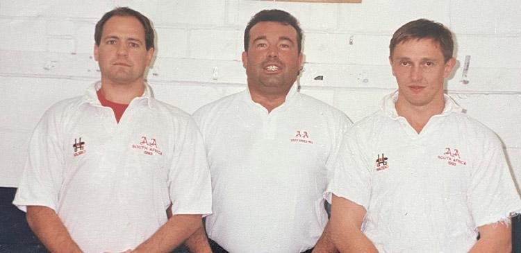 David Taylor (right) with Richard Usher and Matt Harding on Anti Assassins SA Tour