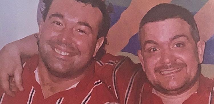 Matt Harding and Steve Mannion, the front-row, smiling, Sale assassins!