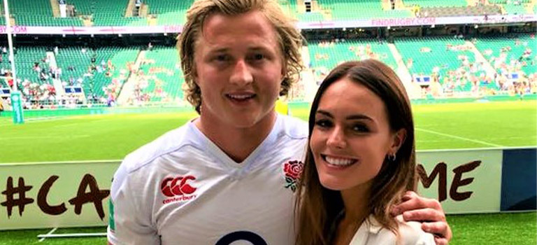 Tommy at Twickenham with Lucy